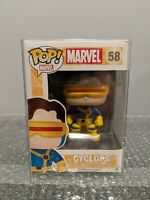 Funko Pop Marvel Cyclops #58 XMEN 2014 Vaulted Retired Rare + Soft Protector!