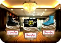 Dr Martens Boots Trio Mix 12 Edible STANDUP Cake Toppers Decoration Birthday Fun