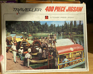 Vintage Tower Press 400 Piece Jigsaw Puzzle Traveller Boats At Xochimilco Mexico