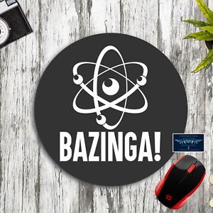 BAZINGA! SCIENCE ATOM GRAY ROUND CUSTOM NEOPRENE PC MOUSEPAD DESK MAT SCHOOL