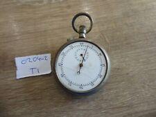 Marked 78526 Nice Markings Military Gents Nickel Pocket Stopwatch