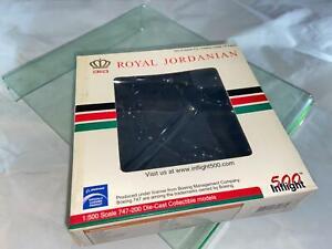 500 Inflight British Airways Boeing 747 200 Royal Jordanian Licensed Box Only