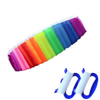 Rainbow Dual Line Stunt Flying Kite Games Kid Outdoor Education Toy Surfing
