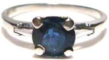 ART NOUVEAU DECO 1.00CT BLUE SAPPHIRE & DIAMOND PLATINUM ESTATE RING SIZE 6.75