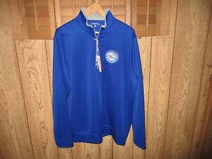 New Antigua 1/4 Zip Pullover Blue Size Men's Large 76ers NBA Logo Store $60.00