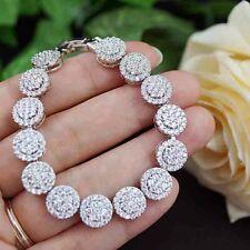 6.16CT NATURAL DIAMOND 14K WHITE GOLD WEDDING ANNIVERSARY TENNIS BRACELET