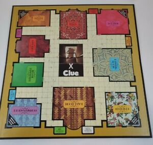 """Vintage 1972 """"CLUE"""" Game Board Parker Brothers Replacement Board only"""