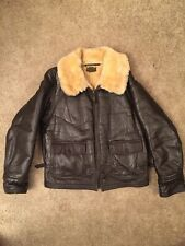 Vintage Fried Ostermann M-445a Wwii 1943 Military Contract Shearling Leather
