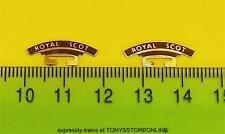 wrenn oo spares 2x royal scot etched metal nameplates