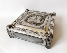 Antique 1880 Historicism Silver Jewelry Trinket Box Hallmark Austro Hungary