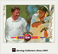 1997/98  Select Cricket Trading Cards BOX CARD B4: I.Healy/D.Richardson