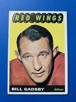 Bill Gadsby 1965-66 Topps Vintage Hockey Card #44 Detroit Red Wings