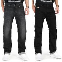 Diesel Waykee Herren Regular Straight Fit Stretch Jeans Hose Schwarz Grau