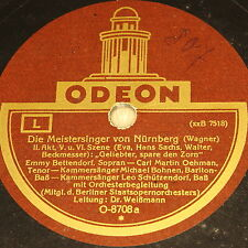 """BETTENDORF/OEHMAN/BOHNEN """"Die Meistersinger von Nürnberg"""" ODEON 78rpm 12"""""""