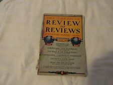 The American Review of Reviews January 1925 Edited by Albert Shaw Good Condition