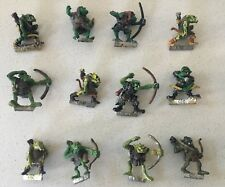 12 orcos Arrer Chicos Vintage Warhammer Fantasy Battle Metal orcos (1980s)