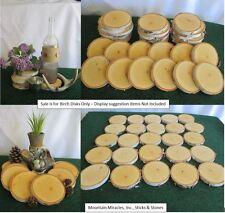 "10 pcs 4-5""x1/2"" White Birch Wood Tree Log Slice Round Disk Wedding Rustic Decor"