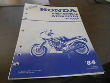 Honda 1984 VF1000F Intercepter Service Manual 23 chapters