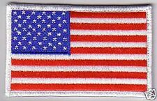 USA FLAG PATCH - WHITE BORDER - FLG09