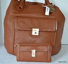 DKNYSet CROSBY-Classik Lock Grain Leather  Bag Purse+Wallet MRSP395+120  NWT