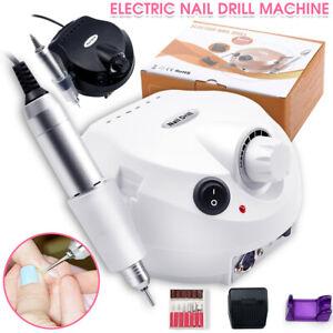 Professional Electric Nail Drill Machine Art Acrylic UV Gel Files Manicure Kit