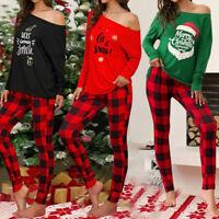 Noël Costume Femme Une épaule Imprimé à carreaux Loisir Ample Pantalon Plus