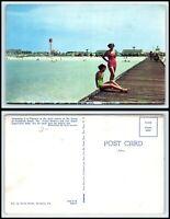 FLORIDA Postcard - Pensacola Beach, Dock, Beach, Water Tower G20