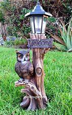 OWL WITH SOLAR LIGHT STATUE SOLAR OWL Statue FIGURINE