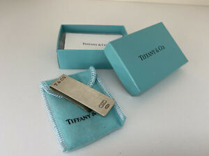 TIFFANY & CO. Money Clip with BOX and POUCH 1837 925 Sterling Silver