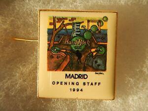HARD ROCK CAFÉ MADRID OPENING STAFF RARE PIN FC PERRY