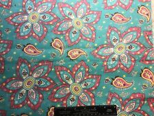 Vintage Cotton Fabric 30s40s PRETTY Large Floral 35w 1yd