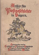 Bayern Archiv für Postgeschichte 1936-1,Die Post in der PFALZ während BESATZUNG
