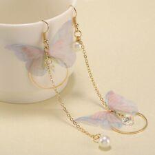 Fashion Chinese style Asymmetric Tassel Ear Earrings Hook Women Dangle Jewelry