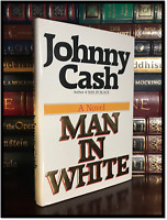 Man In White ✎SIGNED✎ by JOHNNY CASH Music Hardback 1st Edition First Printing