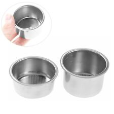 Stainless Steel 2/4 Cups Coffee Filter Basket Non Pressurized Powder Bowl 51mm