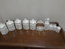 Antique porcelain canister set