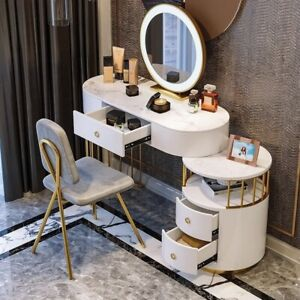 Professional Dressing Multi-functional Bedroom Table Chair With Mirror And Light
