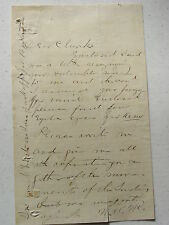Authentic Letter Signed From Colonel Nelson Miles To Famous Scout Ben Clark