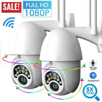 1080P HD IP CCTV Camera Waterproof Outdoor WiFi PTZ Security Wireless IR Cam NVR