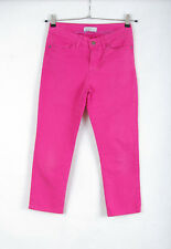 P358/64 Crew Clothing Co Pink Cotton Stretch Trousers, size 8 Regular