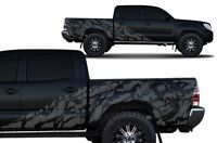 Custom Vinyl Decal NIGHTMARE Wrap Fits: Toyota Tacoma 4D Short Bed 05-15 Gray