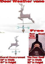 WEATHER VANE 3D COPPER DEER BUCK FULL BODY WEATHERVANE WITH FREE ROOF MOUNT