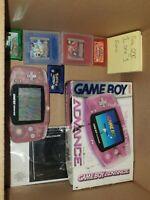 Nintendo Game Boy Advance Fuchsia Handheld System CIB