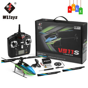 WLtoys V911S 4CH 6G Non-Aileron RC Helicopter With Gyroscope For Training L5Z2
