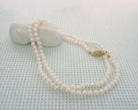 """3mm white AAA akoya cultured pearl necklace 16"""" 18"""" 20"""" 22"""" 24"""" 14k gold clasp"""