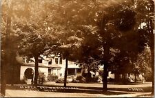 RPPC Real Photo Postcard MI Oakland County Holly Maple St. Residences 1918 M52