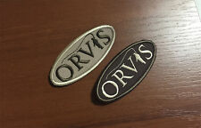 Orvis  Helios Battenkill Mirage fly fishing rod reels rare embroidered patch x2