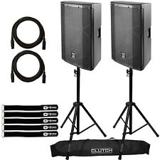 "DAS Altea 715A Powered/Active 15"" 2-Way Wireless Audio DJ PA Speakers Pair+Stan"