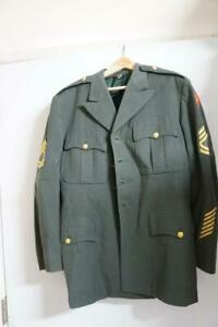 ARMY DRESS GREEN CLASS A UNIFORM JACKET SGT FIRST CLASS 41 SHORT