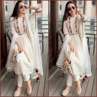 Salwar Kameez Suit Indian Pakistani Designer Dress Shalwar New Party Wear plazoo